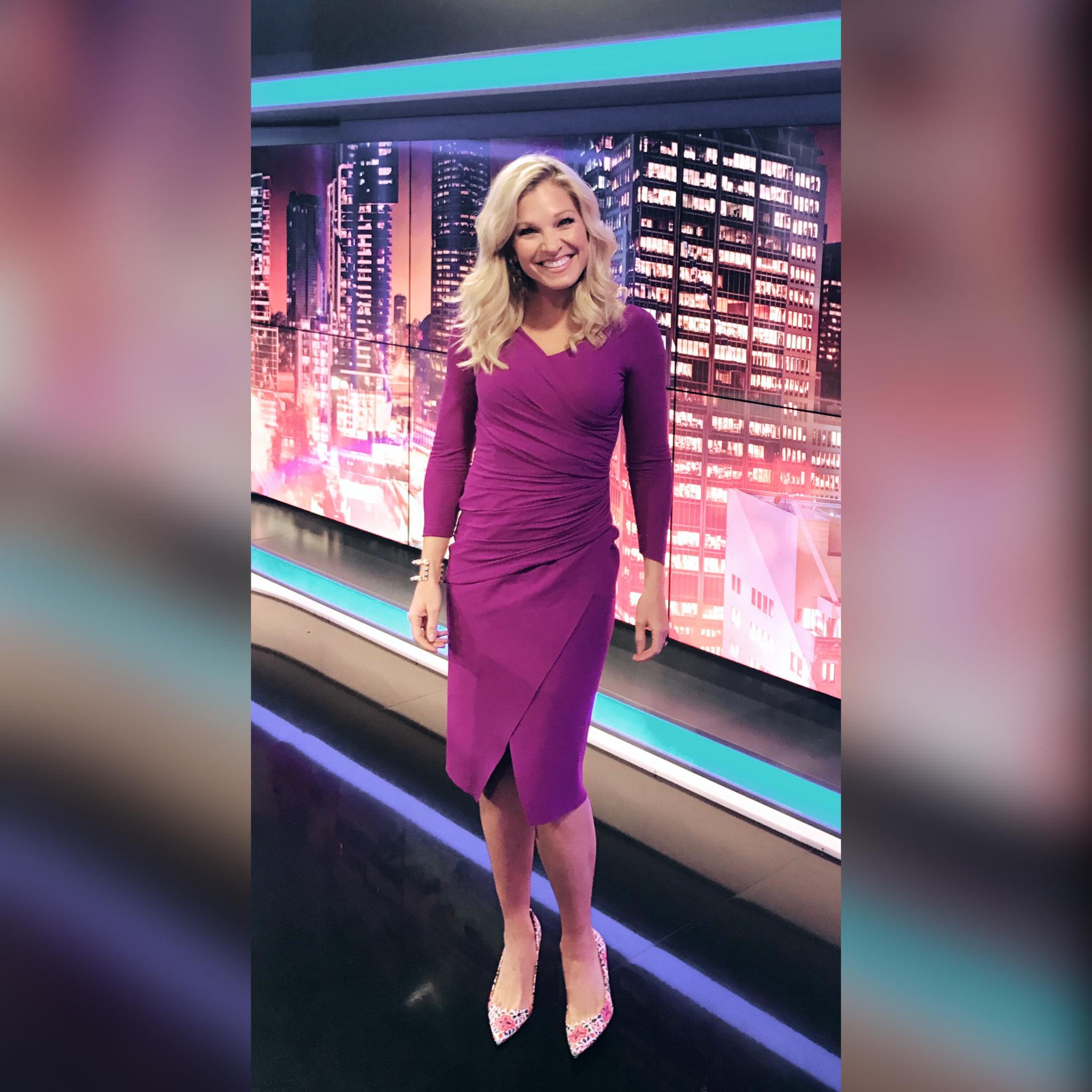 Anna Kooiman Sky News May 2017 la petite robe dress australia sydney tv news bondi beach fitness travel lifestyle The Sky's the Limit for Fuchsia