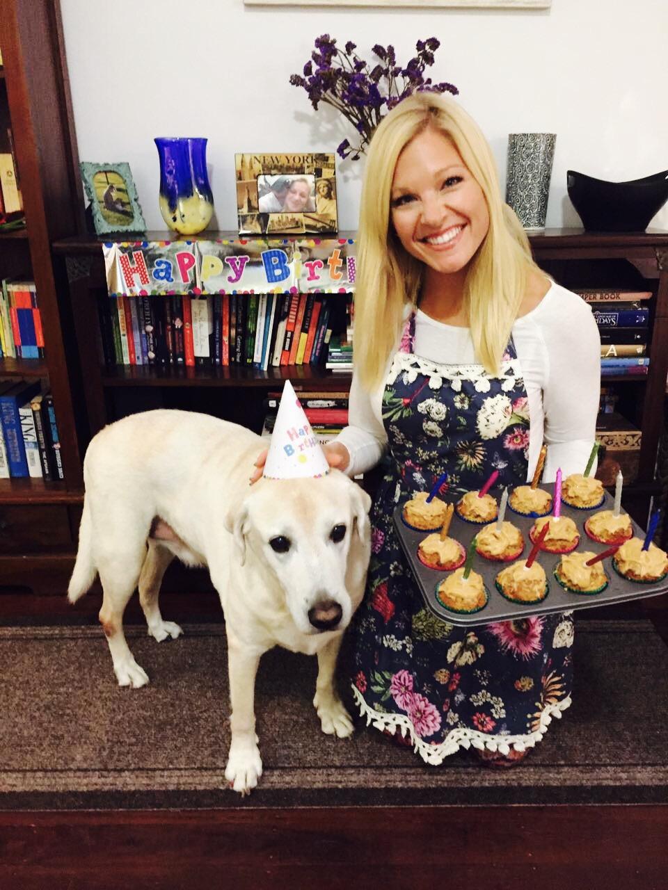 Anna Kooiman Sir Baxter Bear AnnaKooiman.com Peanut Butter Pup Cakes