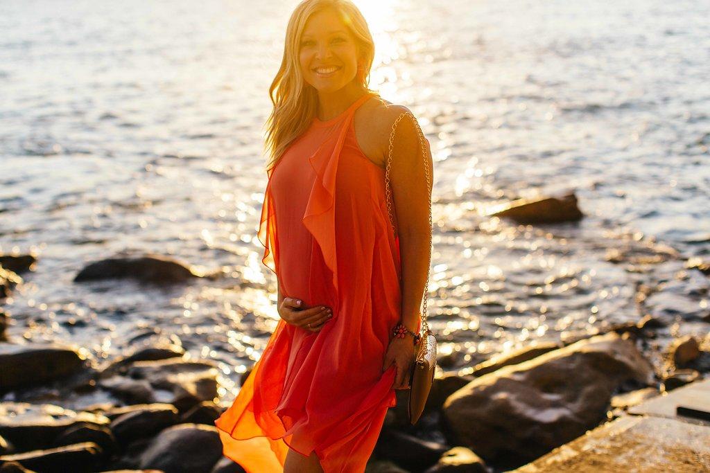 Photos: Anna Kooiman, Bondi Beach, Australia, Chris Presitdge,  Dress: BCBG  Earrings and Bracelet: J.Crew  Heels: Tony Bianco  Bag: Erika Lynn Handmade