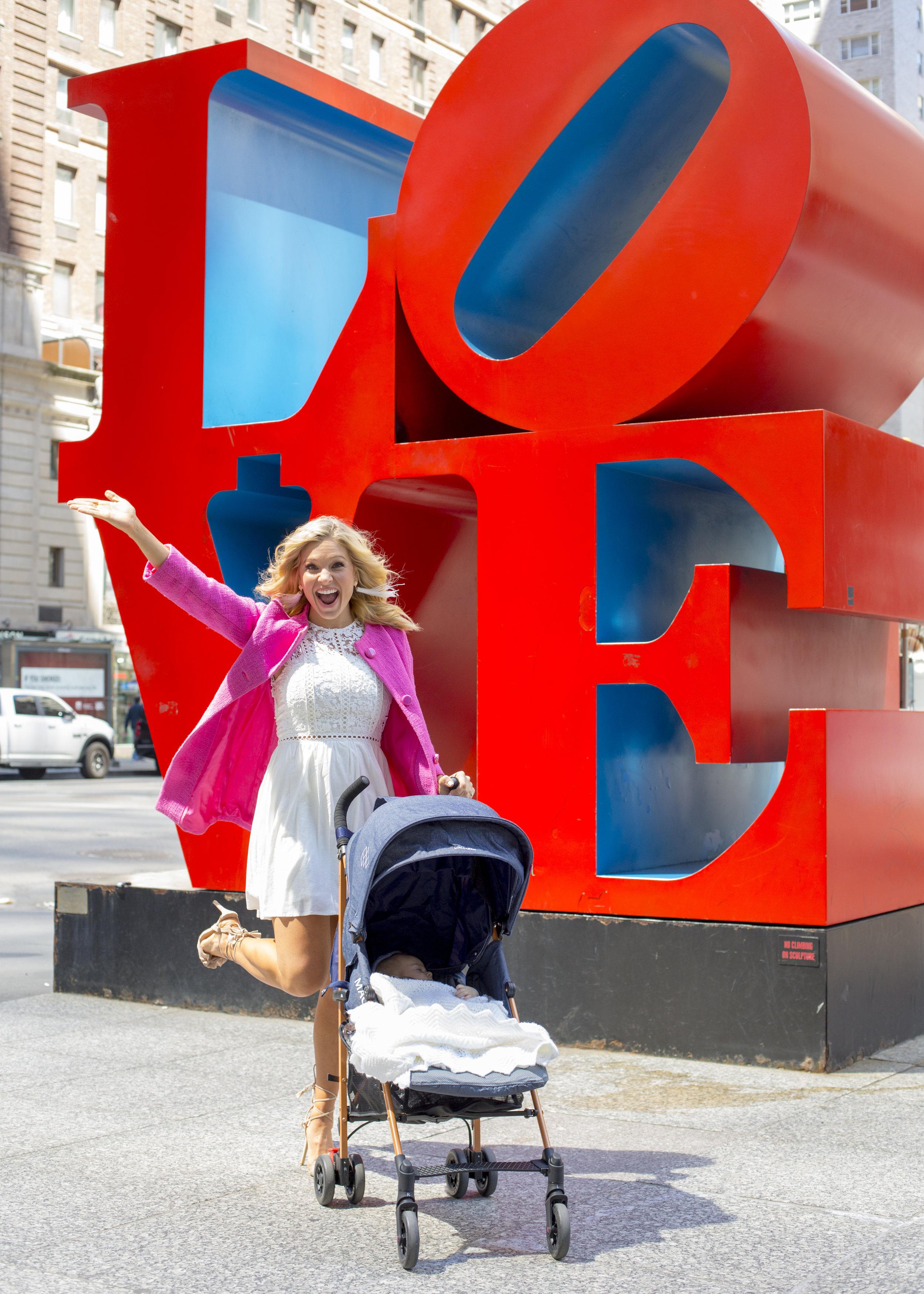 Anna Kooiman New York City 2018 Baby Brooks Newborn Infant Mom NYC fashion style fitness travel healthy living lifestyle white dress