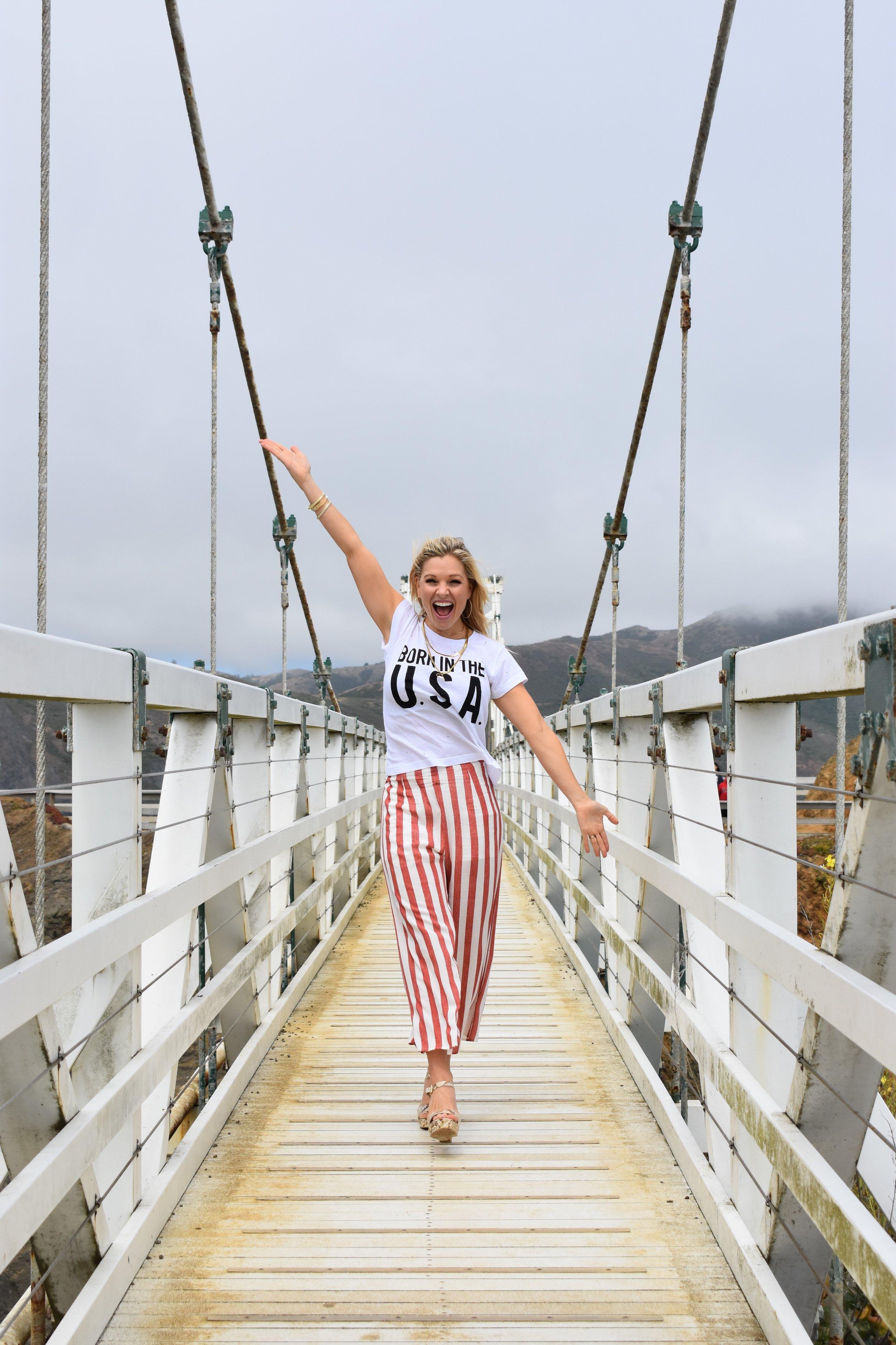Anna Kooiman San Francisco Fourth of July fashion wild fox couture born in the usa fitness travel lifestyle