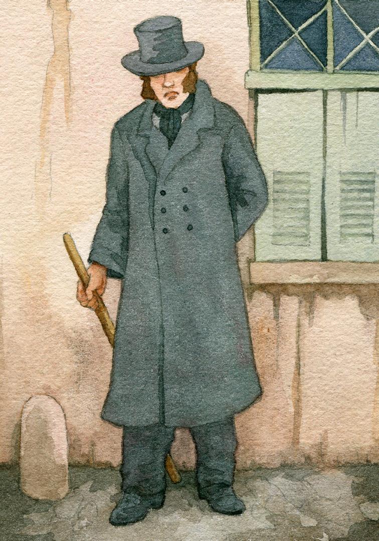 Javert always kept an eye on Mayor Madeleine, an eye full of suspicion and speculation.