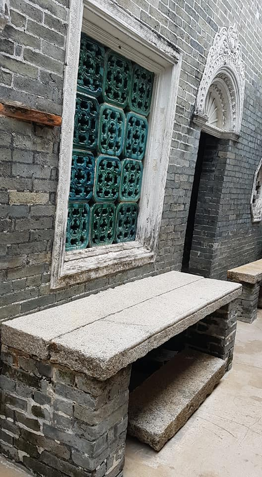 Outside the kitchen, Ching Shu Hin Guesthouse, in an open passageway, this was the preparation bench (photo: Norma Siu)