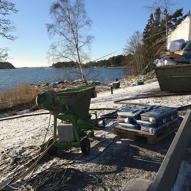 Planspackling av ett hus på Yxlö idag💪#finjobb #nordicpump #skärgården