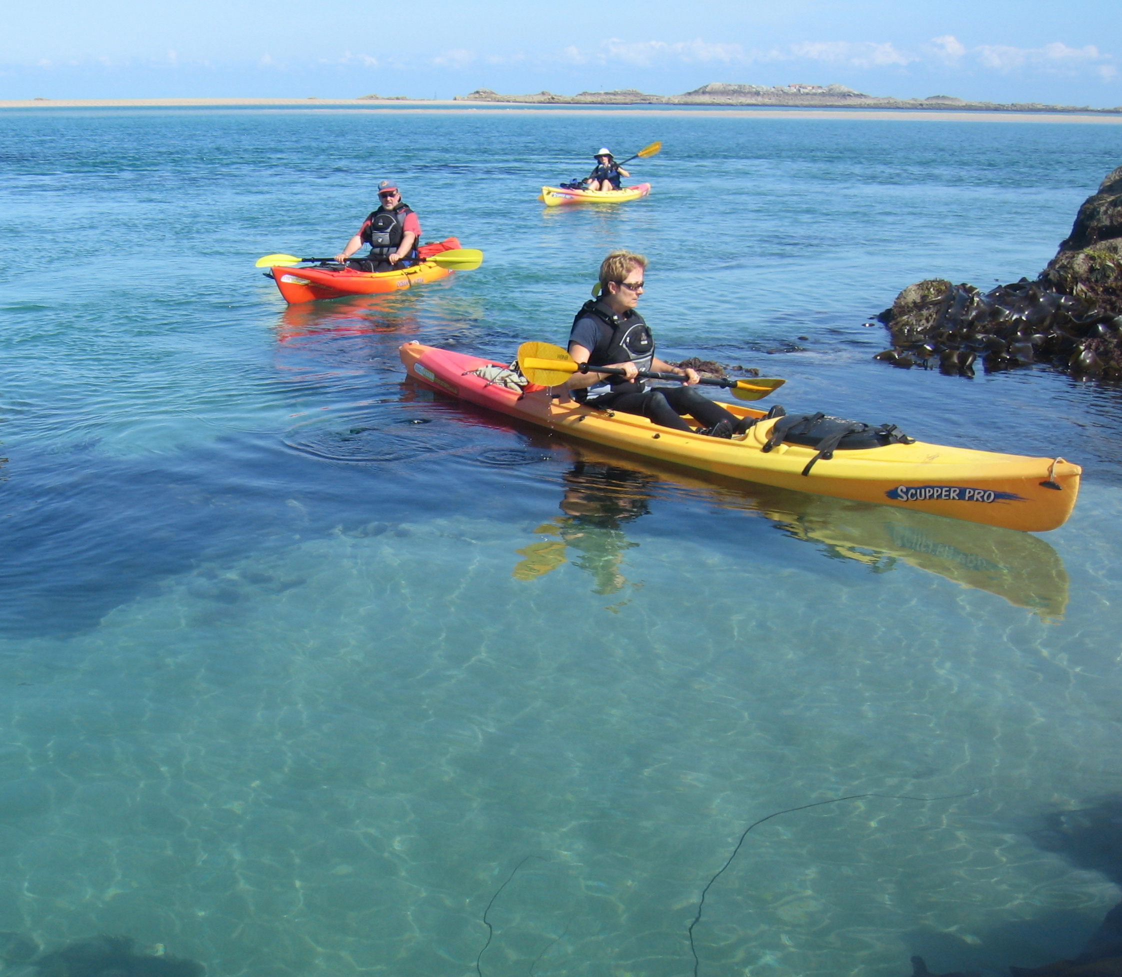 Kayak Class - Jersey Kayak AdventuresSaturday 8 June at 0930 - Free Activity !This free kayak class is an excellent opportunity to get top tips and safety advice from the experts at Jersey Kayak Adventures, the islands only specialist kayak company.The 2-hour class is ideal for anyone who already owns or is considering buying a kayak.Free, if you use your own kayak, paddle, wetsuit, buoyancy aid, paddle jacket and footwear.If you need to use one of our kayaks, you can join the class at the special price of £29 (includes kayak, paddle, buoyancy aid, paddle jacket and a long-john style wetsuit).