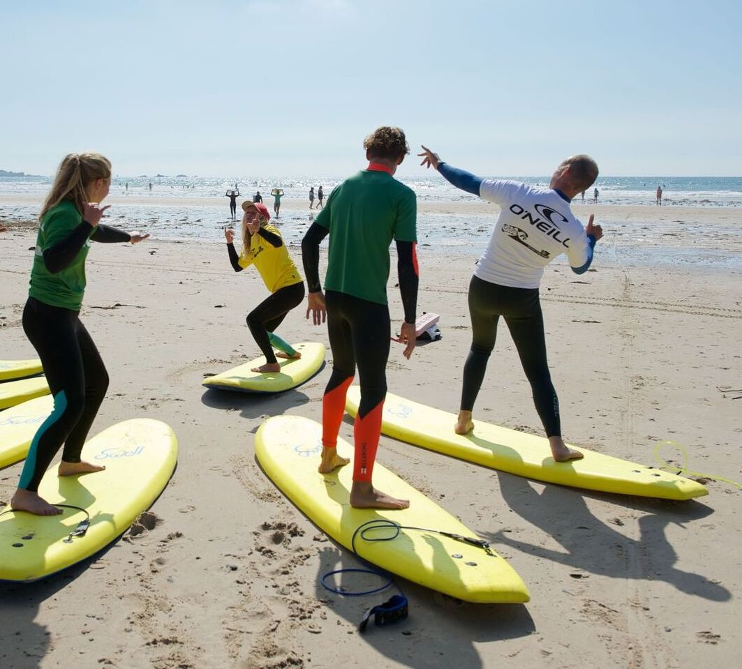 Surf Lessons - Jersey Surf SchoolSaturday at 1200 - Free Activity !Jersey Surf School will be offering surf lessons over the weekend at Le Braye. They have a highly experienced team of coaches from all over the world that can cover all your coaching needs; from a first time novice to an experienced surfer and take students from the age of 6yrs and upwards.