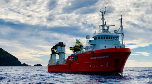 The Vessel - Silver SupporterThe Government of Pitcairn Islands' chartered freighter, Silver Supporter, will provide transport and a base for the expedition team.