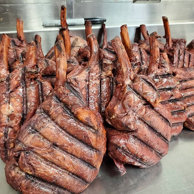 Birshire pork chop smoked