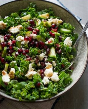 Pomegranate Kale Salad -