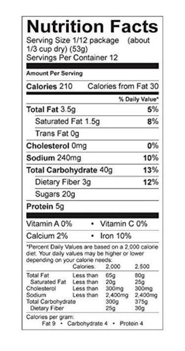 lactation cookie nutrition