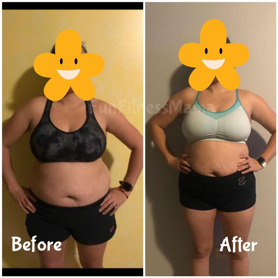 Vanessa lost 10lbs and 16 total inches (4 inches from her waist)!!