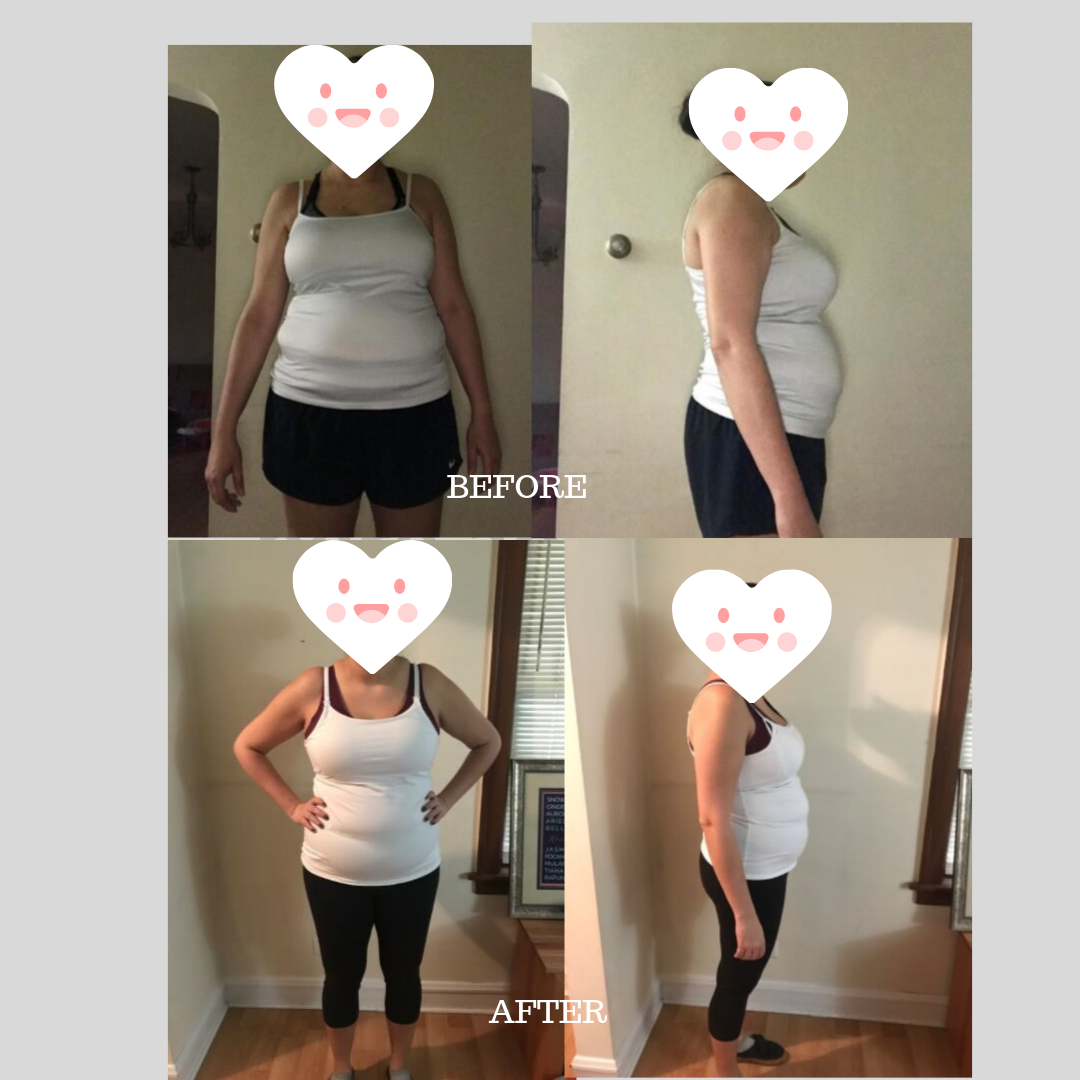 Kristina lost 8lbs in her first round and is continuing another round!