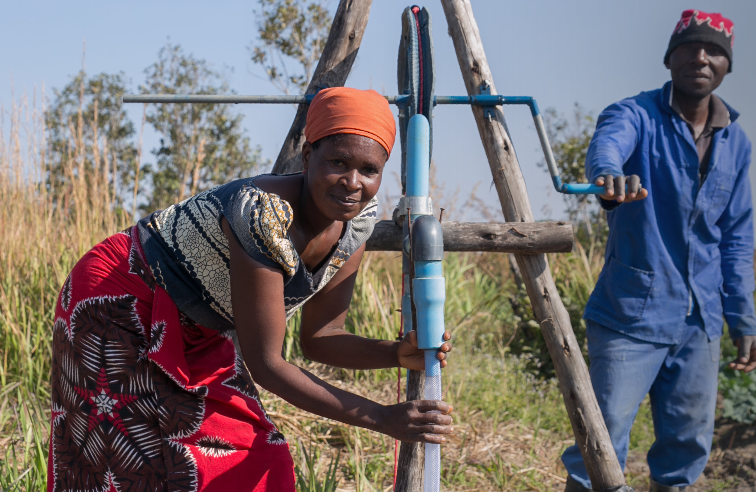 I'm cultivatingchange - Malawi's small-scale farmers know they need to regularly water their crops, but the treadle pump Memory and her husband were given just wasn't suited to their needs; the water pressure was hard to control and they couldn't use it to water their seedlings. So she used their savings to buy a locally made rope and washer pump which not only increased their productivity, it recouped its cost within a year.