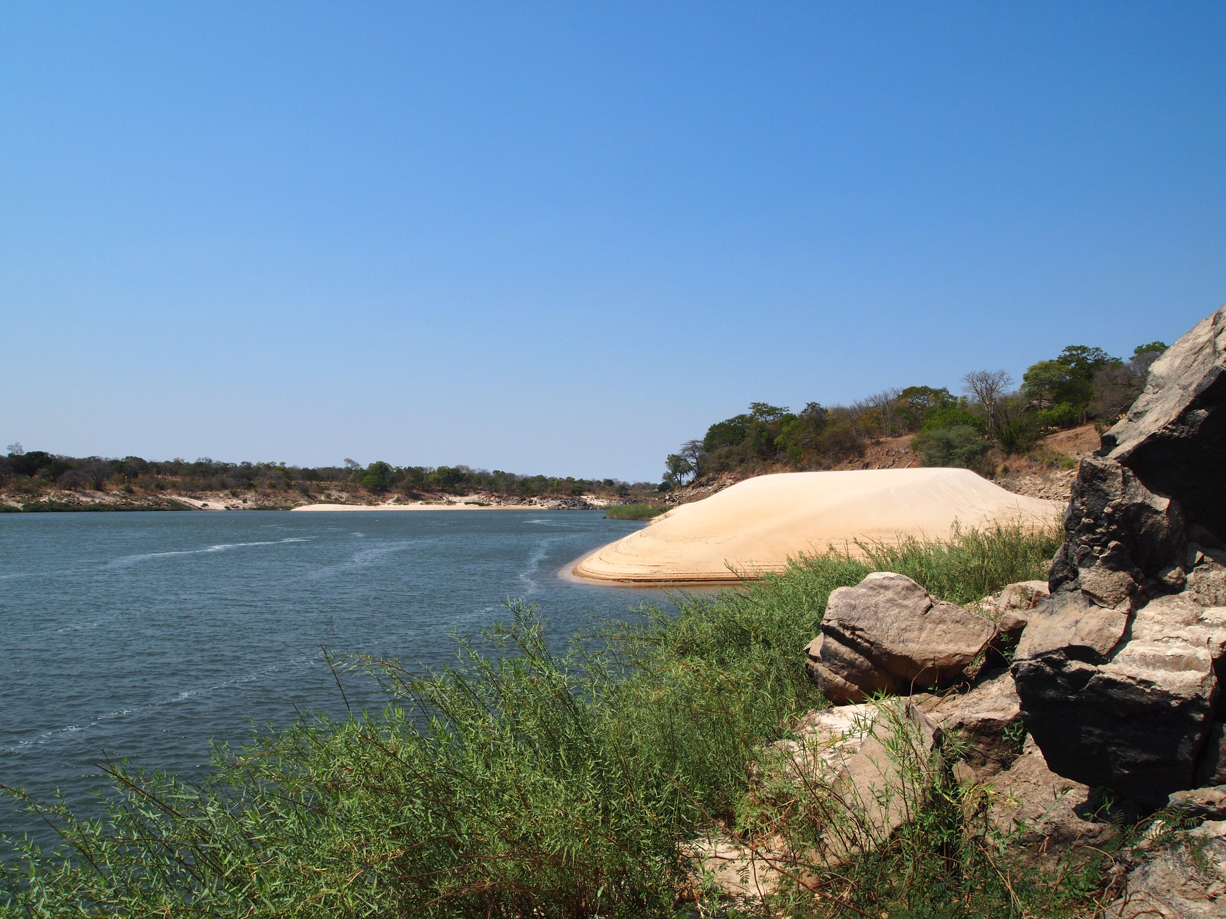 Zambezi river from Camp