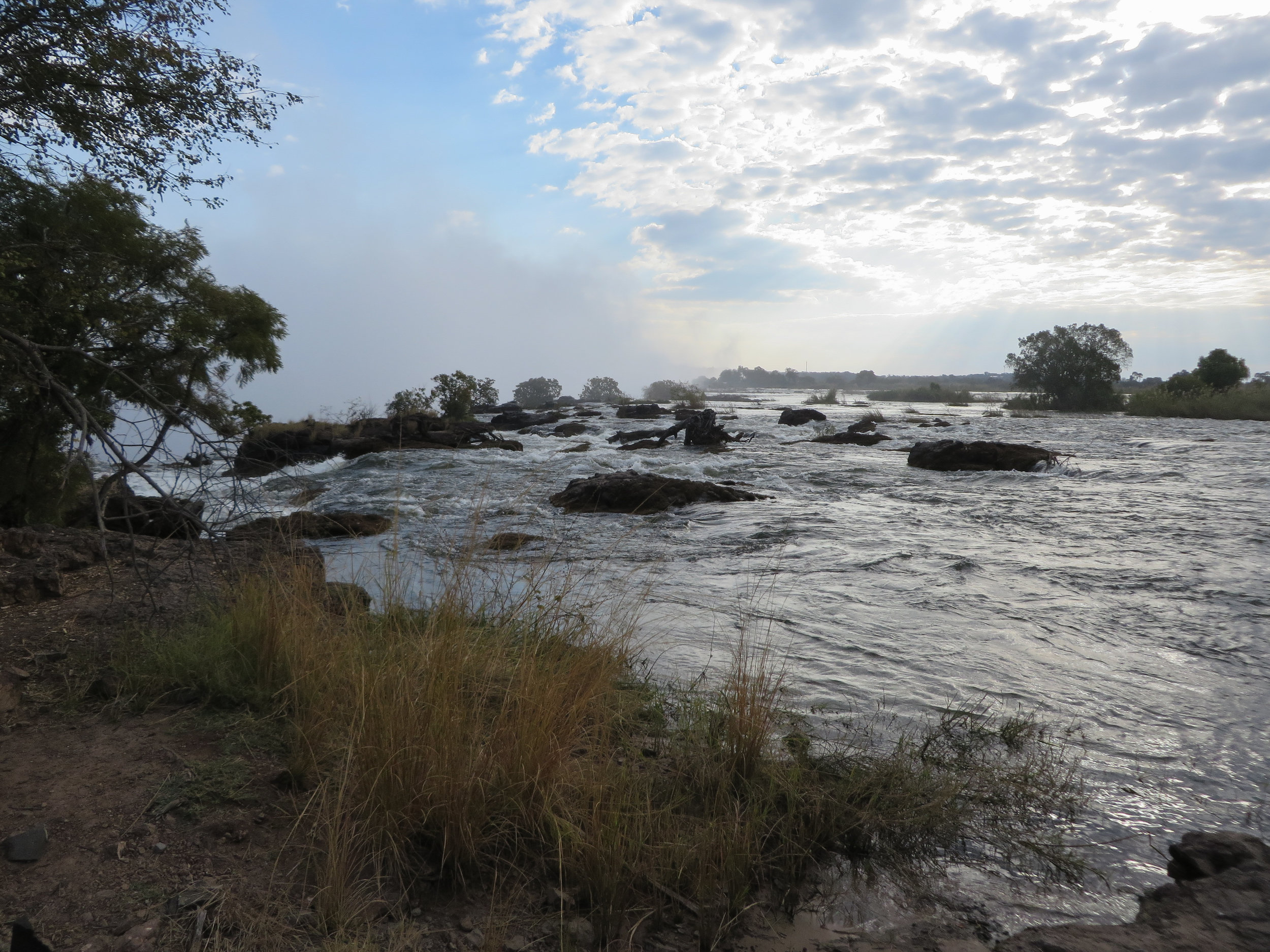 Above the Vic falls