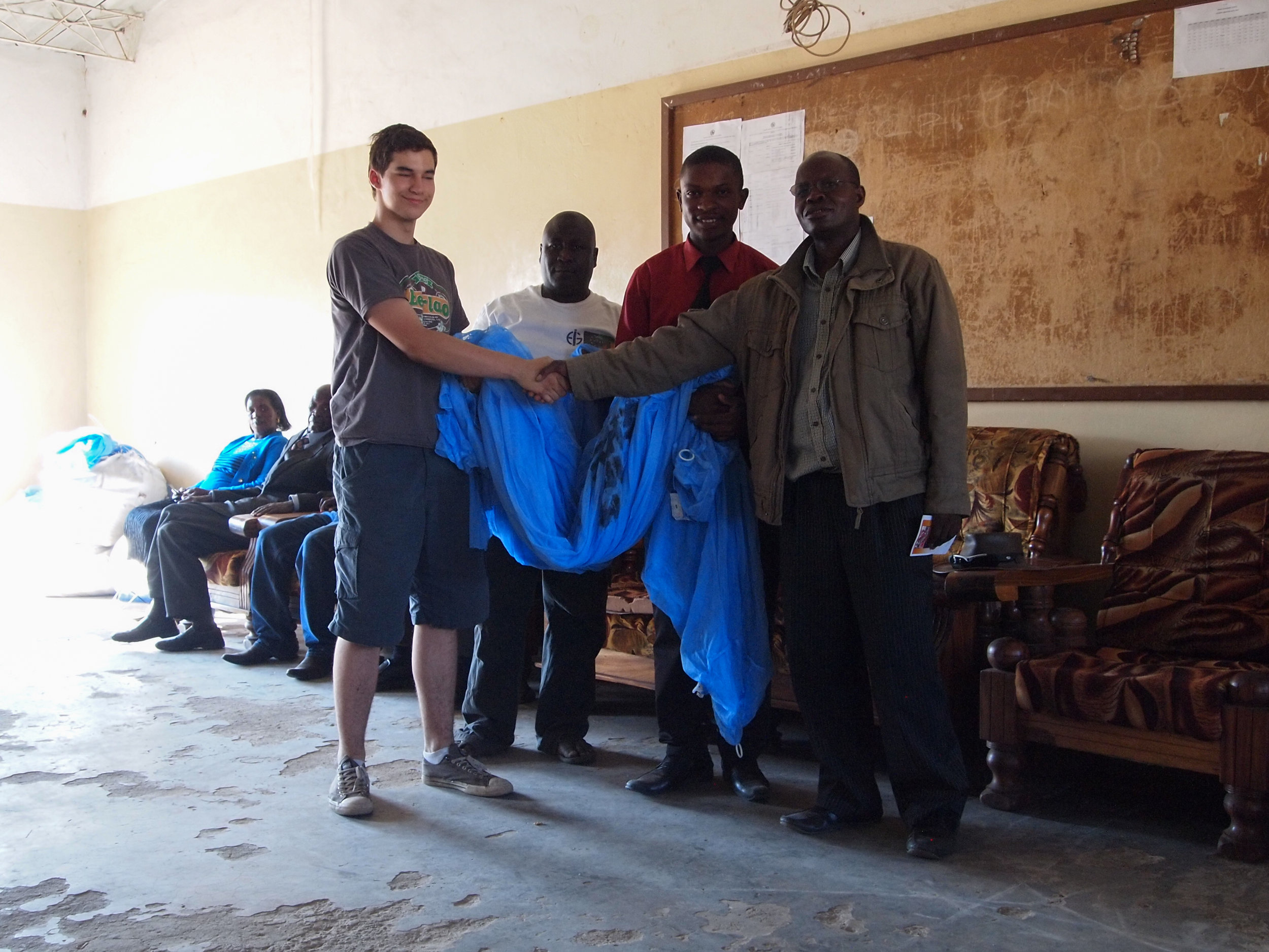 Formal hand over of the bednets no. one weapon in malaria prevention