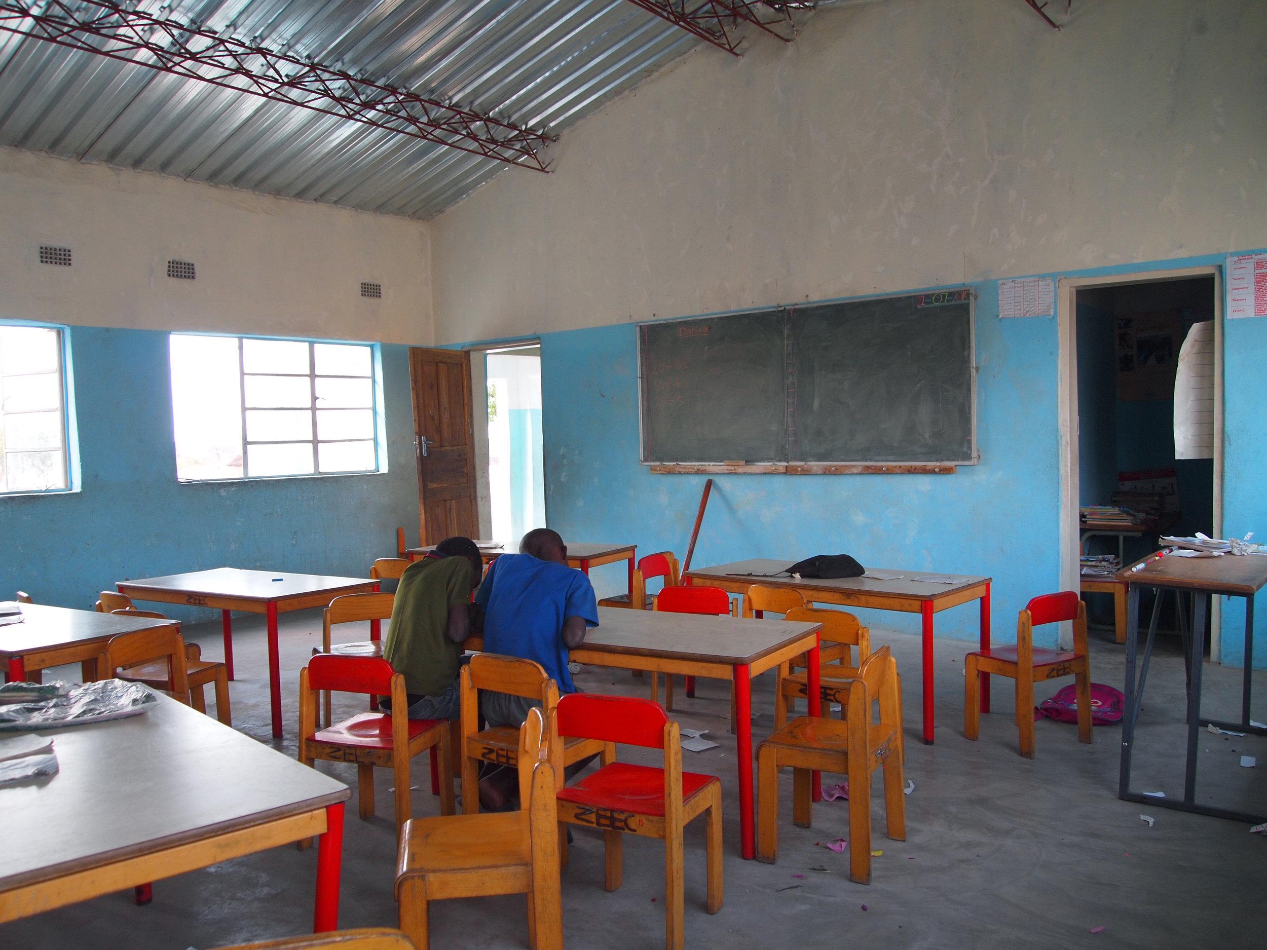Classroom funiture for Kabula