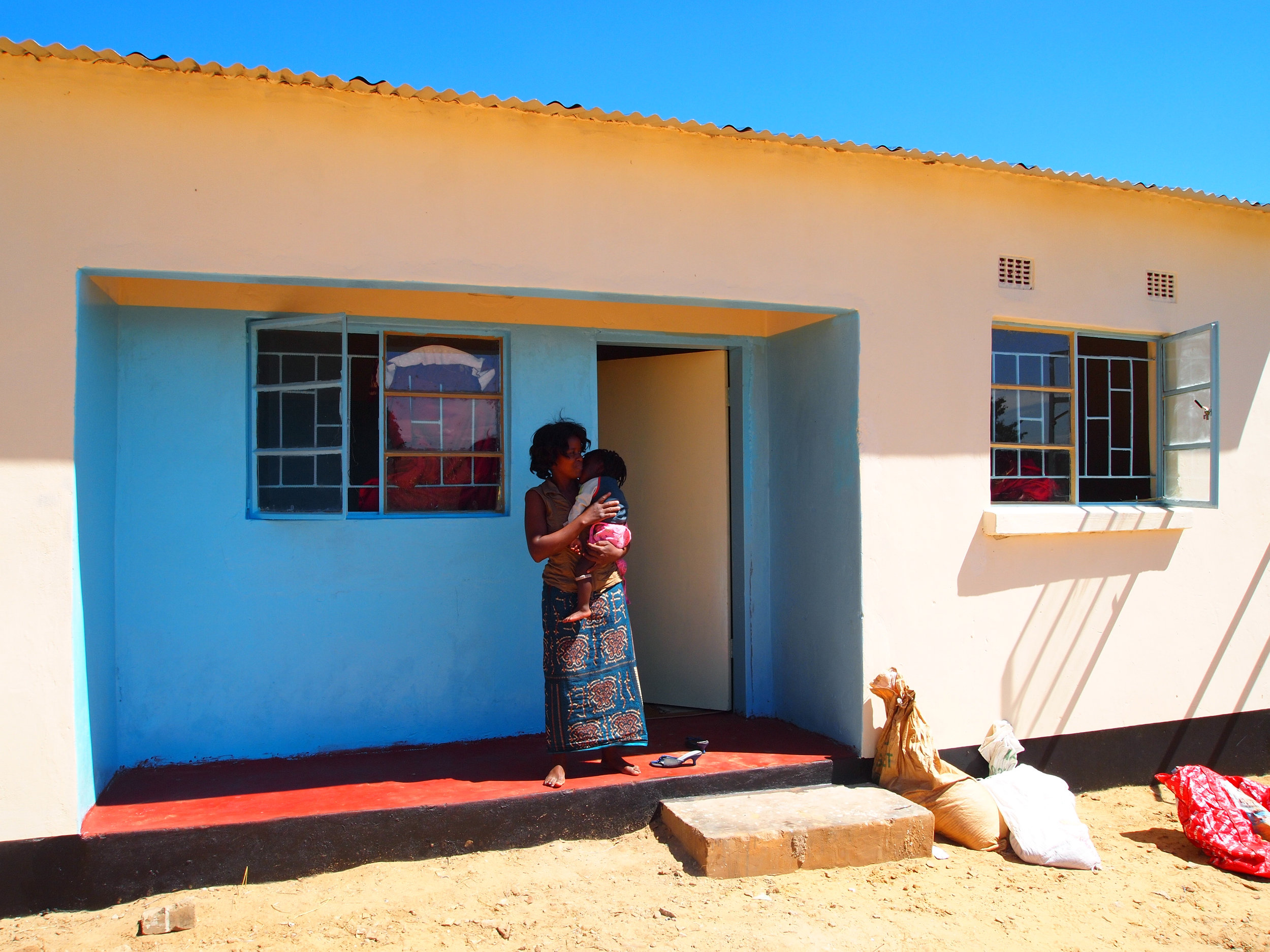 Terraced houses for teachers build by ZEEC