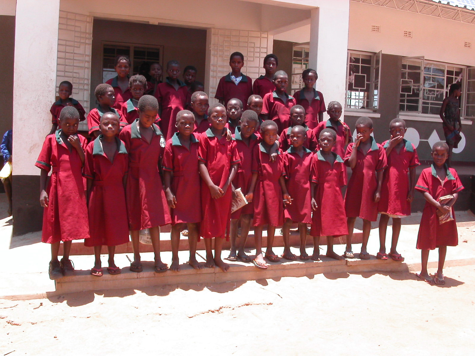 School uniforms donated in Europe made in Zambia