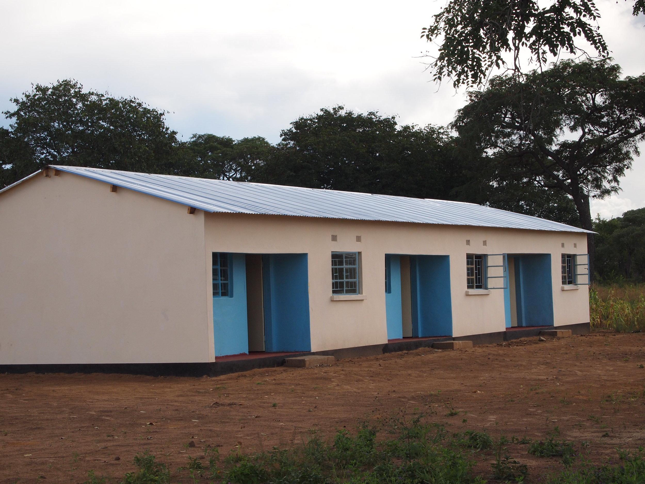 Teacher terraced houses built from donations