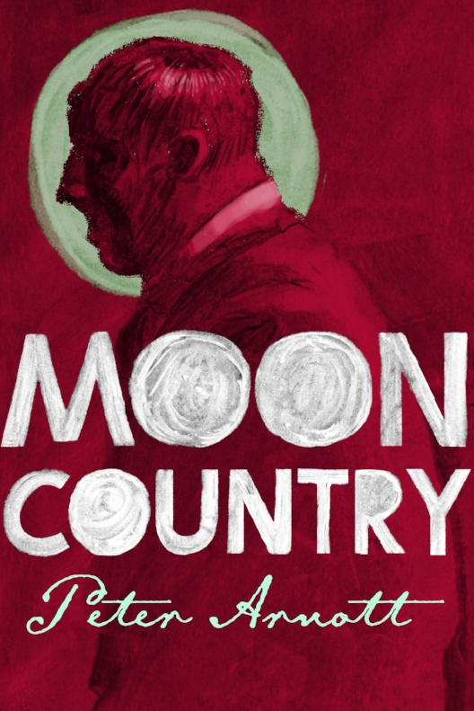 Early cover design for Moon Country: initial approaches were hand-drawn in charcoal with a simple, strong colour palette.