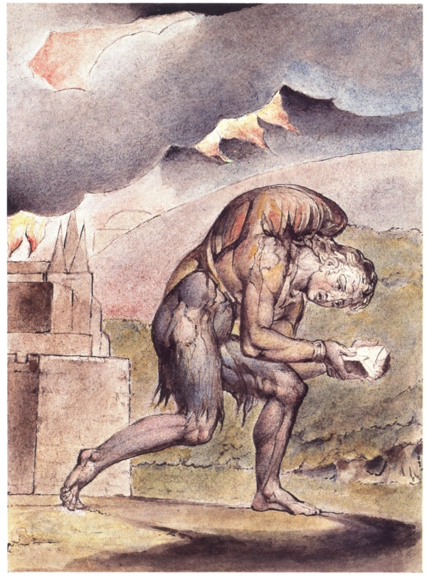 Read while walking, read while lining up, but also take the time to read in a more relaxing setting, perhaps while sitting down! (Image: William Blake [Public domain], via Wikimedia Commons)