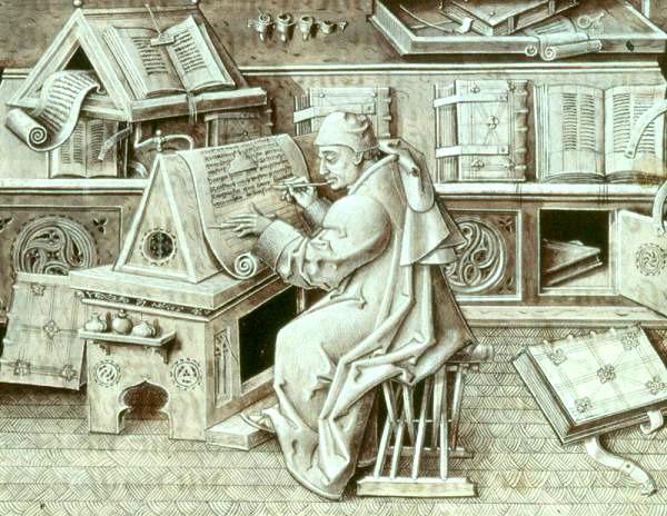 Portrait of Jean Miélot  (Jean Le Tavernier)