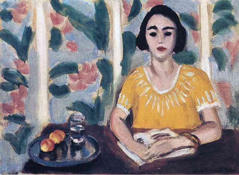 Henri Matisse,  Woman Reading With Peaches,  oil on canvas, 1923