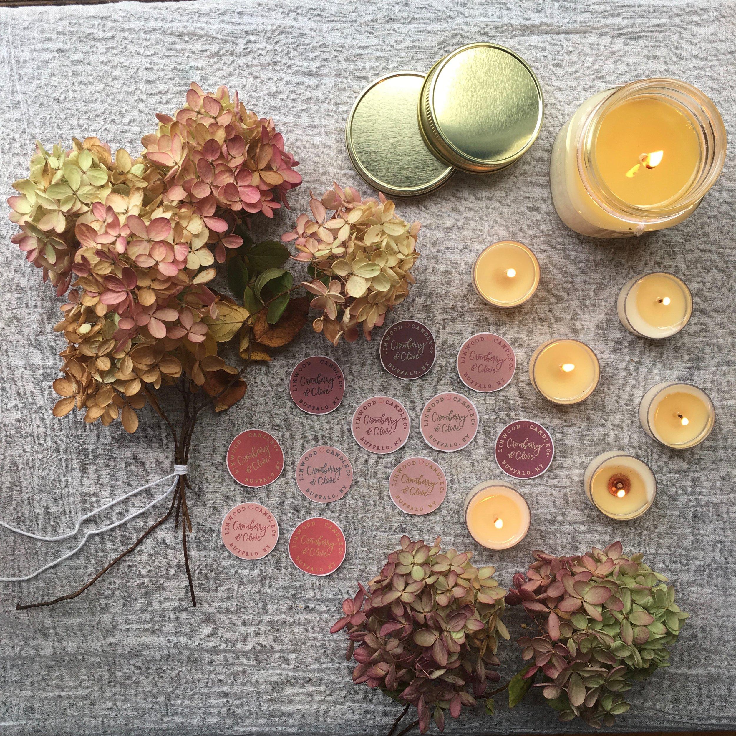 Soft blush, muted tones, botanical elements...