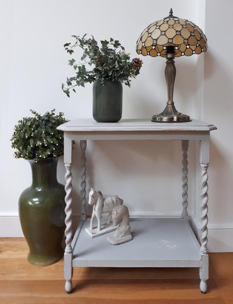 """Loved by... Lesley in Wimbledon   """"My unique side table fits wonderfully in my home, Winter Bear Home sourced a fantastic piece and then refurbished it in the perfect colour to compliment the room."""""""