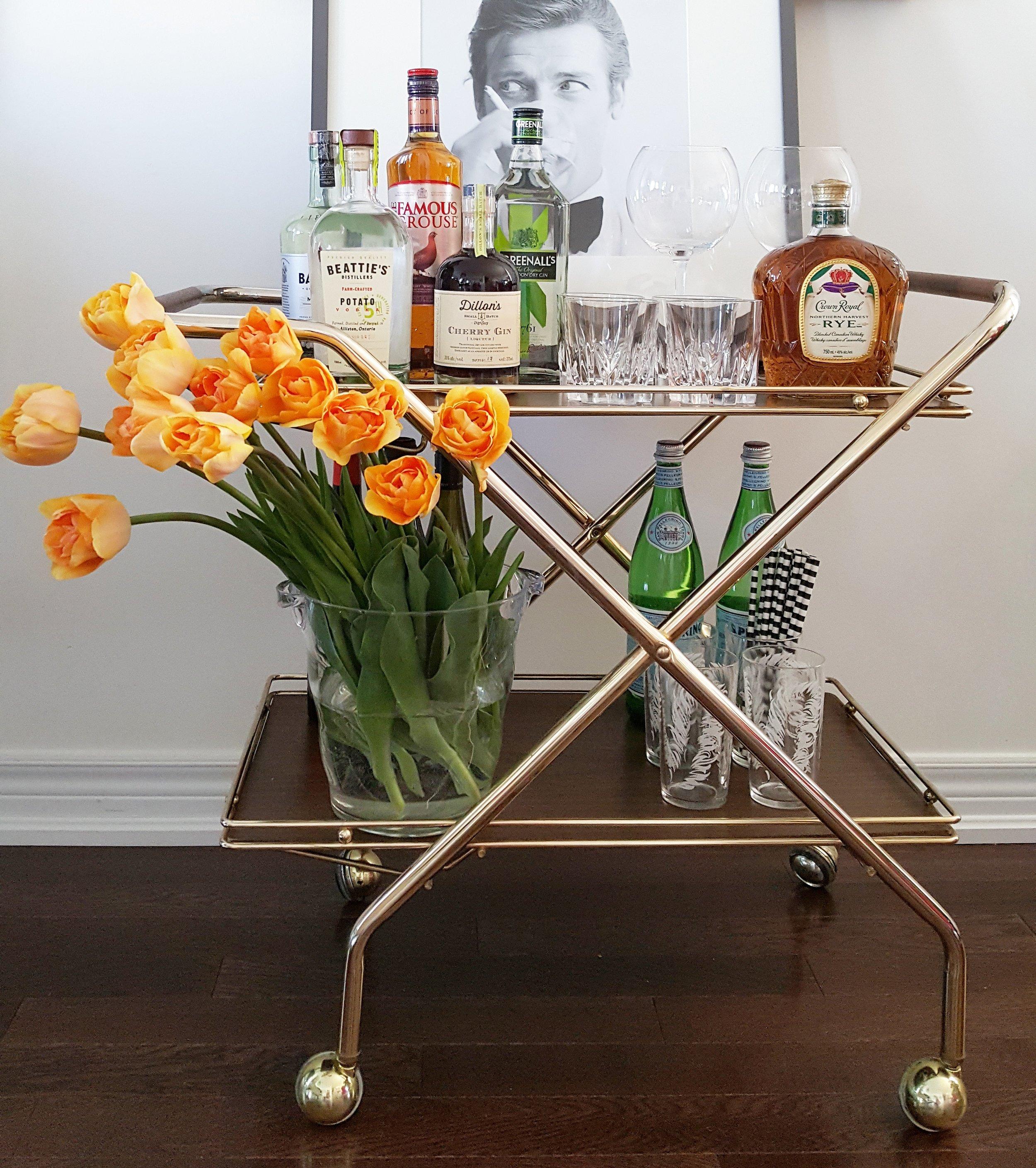 Vintage Bar Cart: After