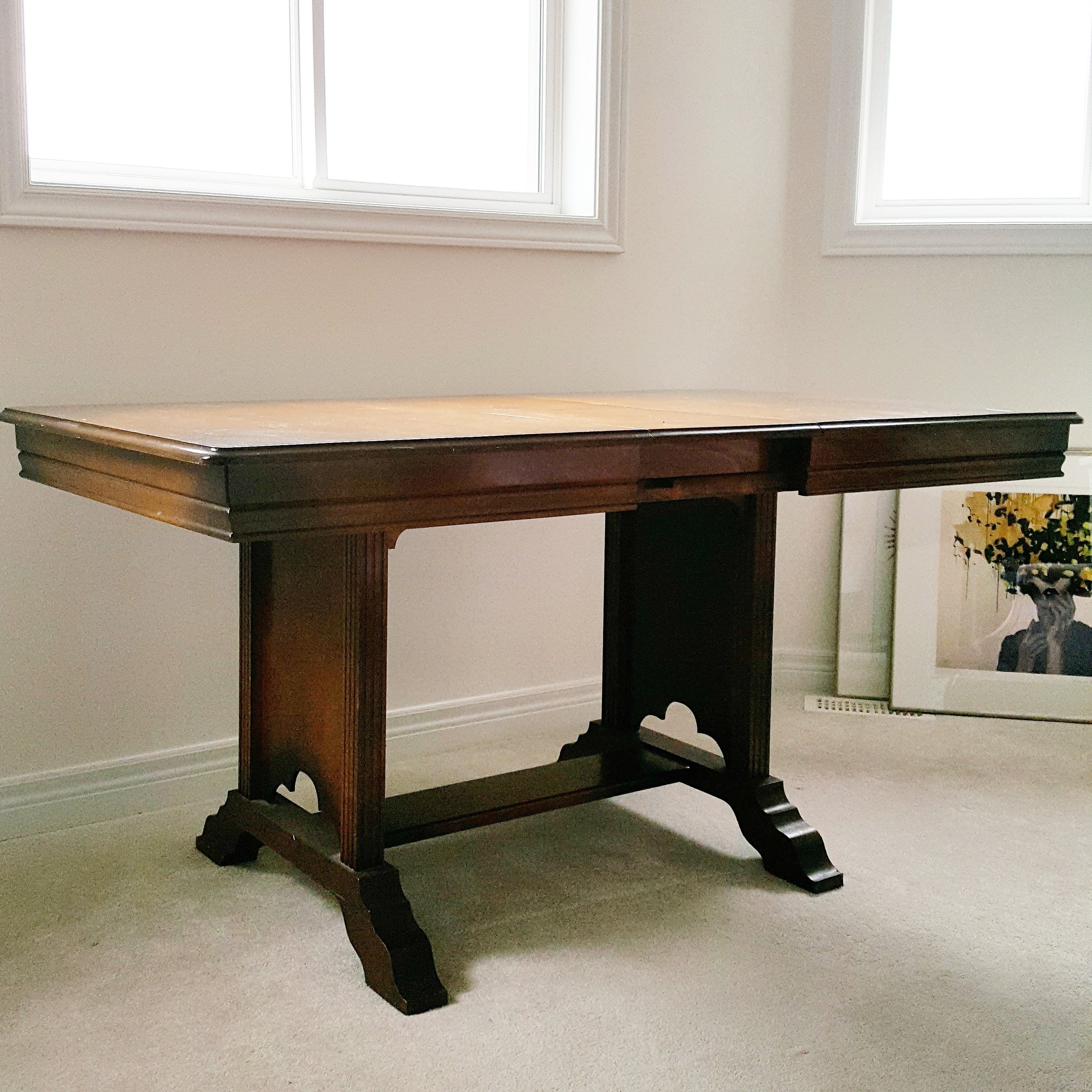 dining table turned desk!