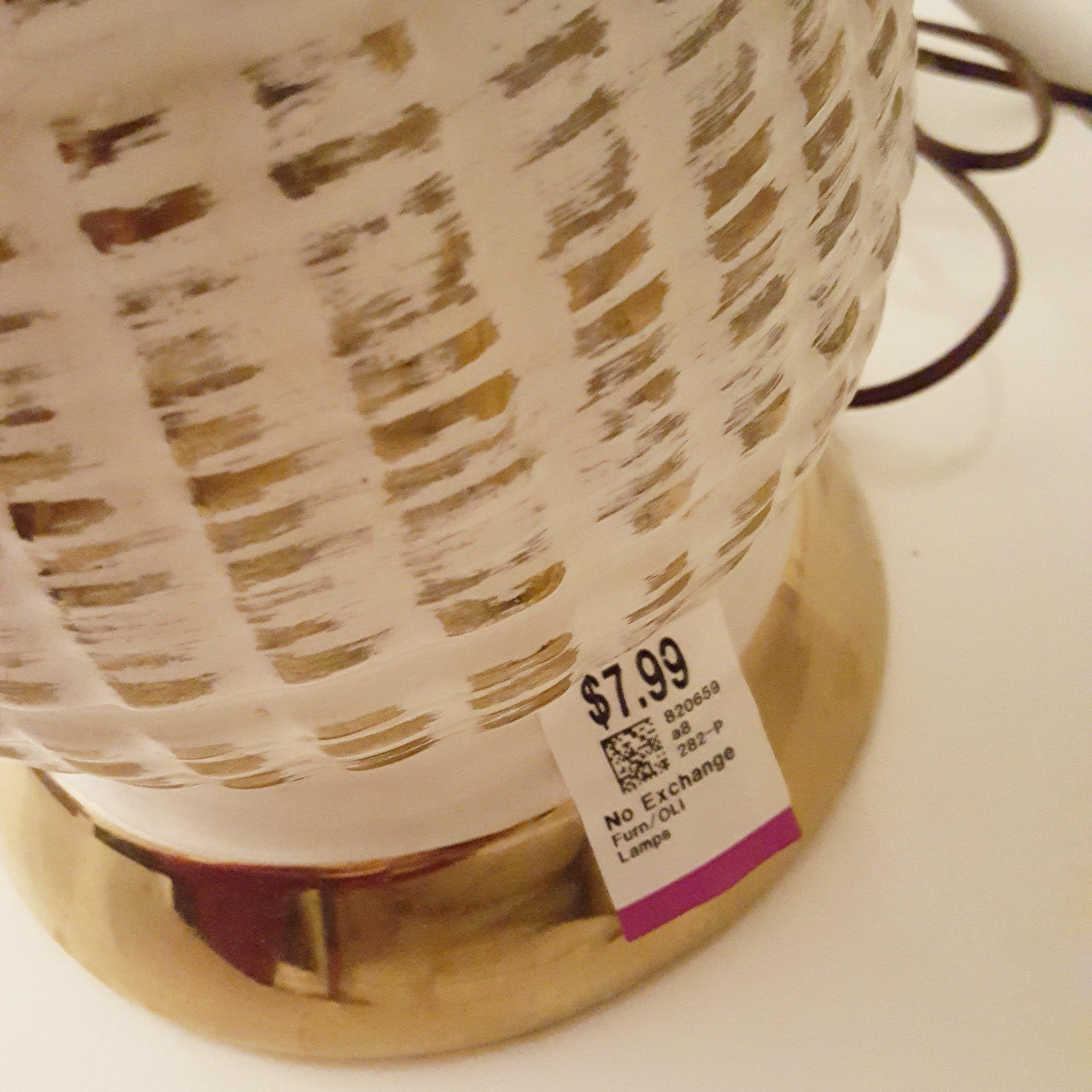 value village vintage lamp