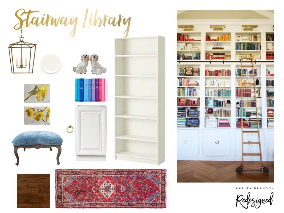 Spring 2018 One Room Challenge: Stairway Library | Carley Brandon Designs
