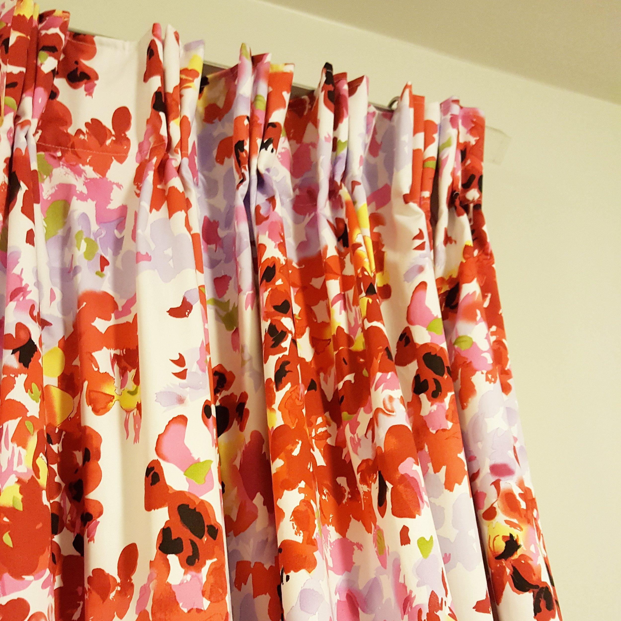 Custom pinch pleated drapes