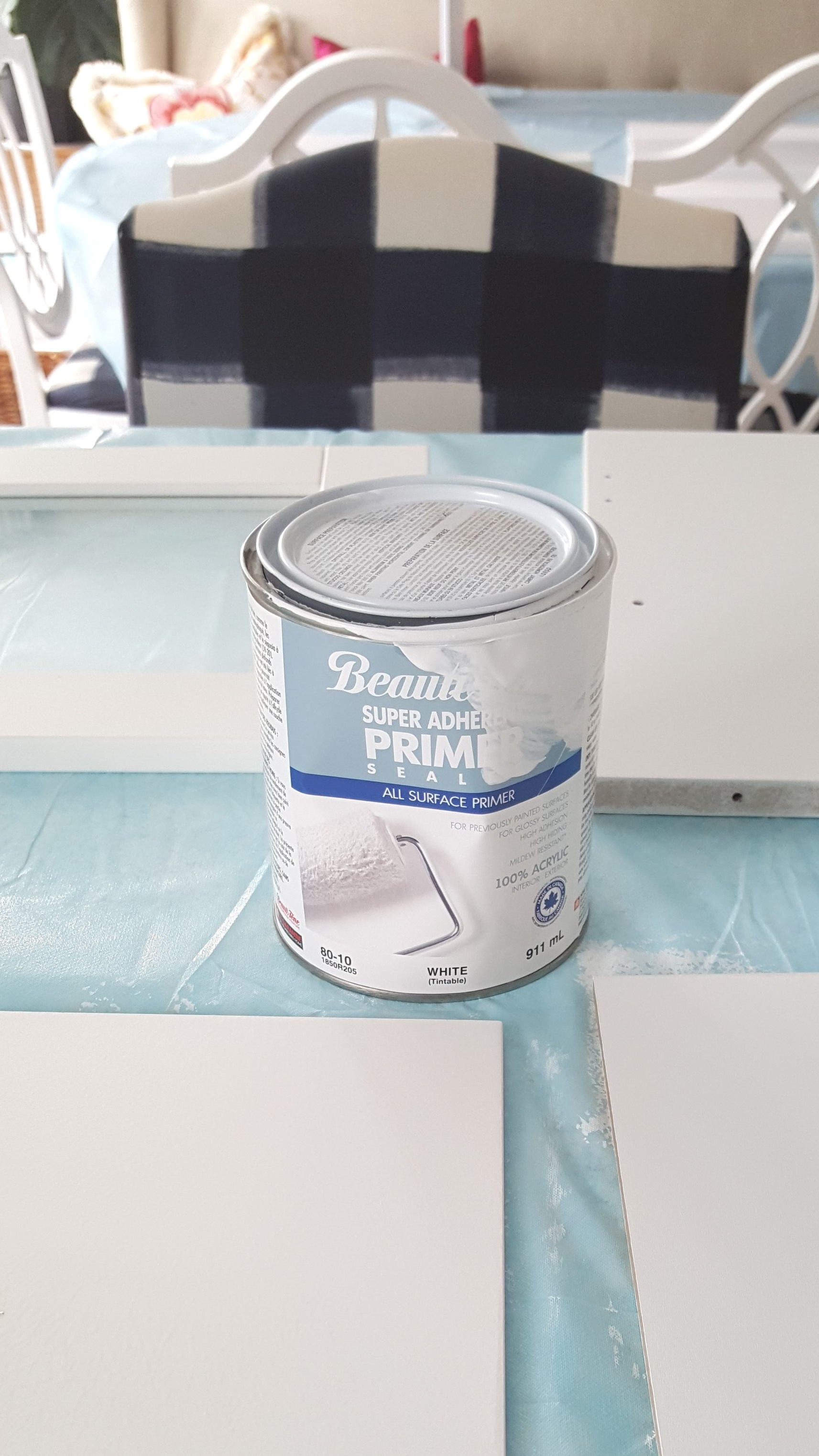 Priming the cabinets