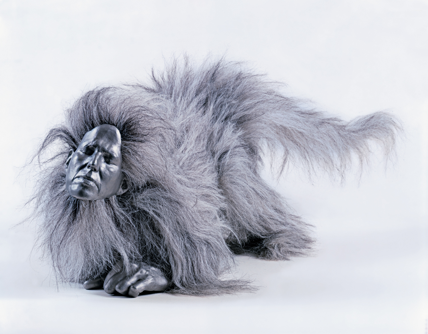 Monkey with Hair (grey)