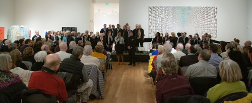 A heavy snow could not deter the audience from attending.  Photo by Ric Rosow