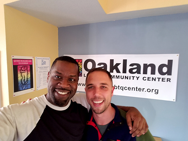 Hanging out with Joe Hawkins, co-founder and Executive Director of the Center, after signing a lease for my new office!