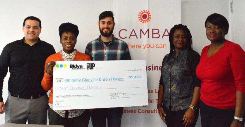 CAMBA's Small Business Services team congratulates young entrepreneurs,   Anyanwu and Ben,