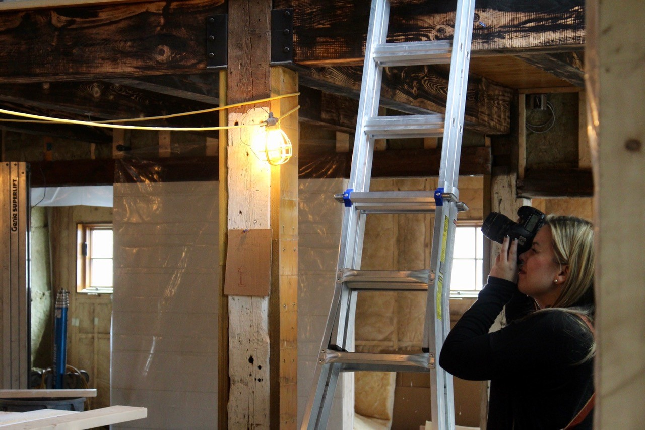 Shooting the soaring rafters in the Barn from the safety of the ground floor before climbing up that silver ladder in search of the perfect angle.