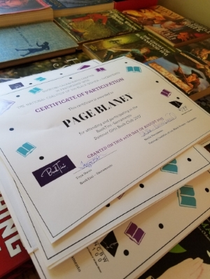Sacramento chapter Summer Girls Book Club participation certificates