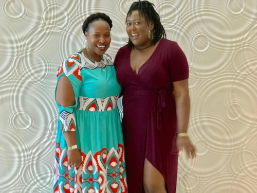 Mocha Girls Read founder, Alysia, with Tawanda of BookTini-Atlanta #BookClubsUnited