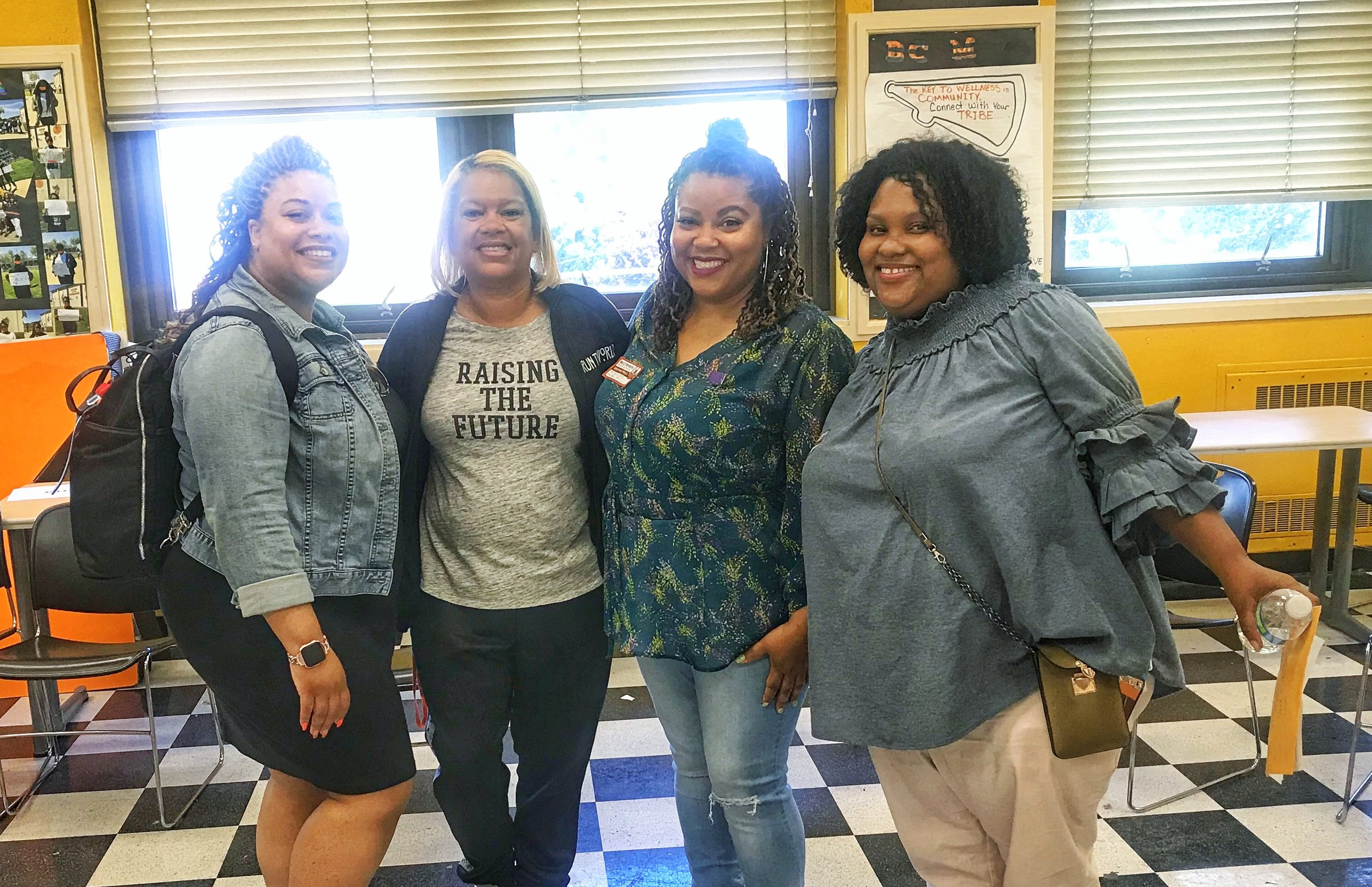 Oakland/East Bay members with Young Empowered Sistas advisor, Relonda McGhee (middle left)