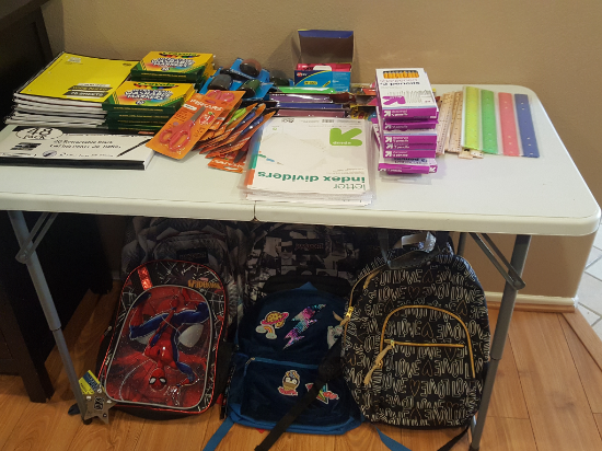 Back to school donations from BookTini- Carson