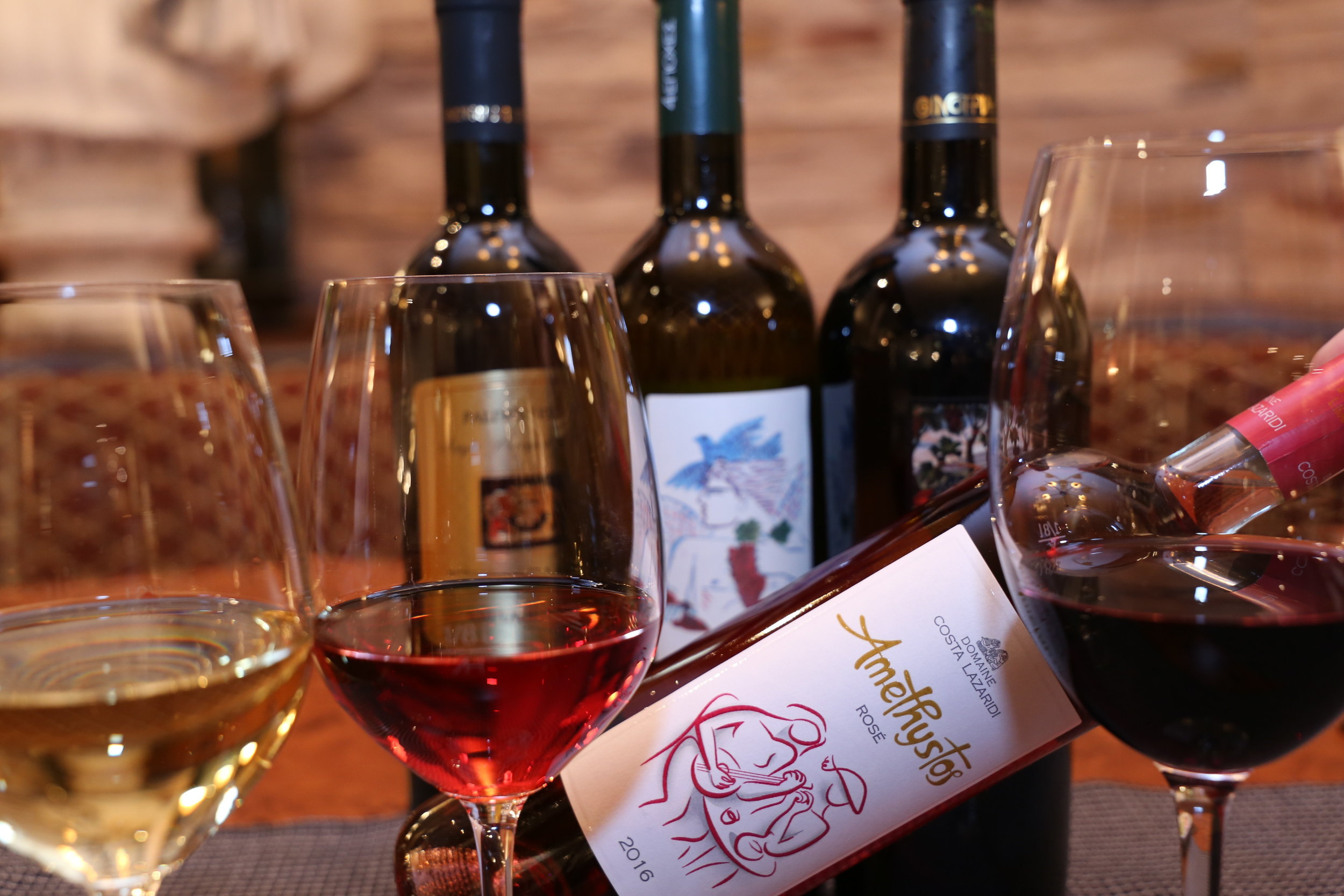 Irodion Restaurant Wien Griechische Weine