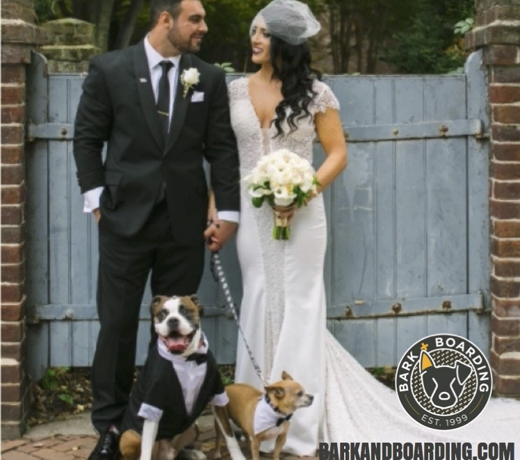 Want your pup to attend your wedding but worried about the logistics of getting him/her there? Contact Bark + Boarding to be your pup's personal assistant for the day! We'll dress, drive & help handle your pup at the ceremony, reception or both so you can focus on your big day.Call or email us today to set up your pet care needs! - *Wedding and/or reception must be within our In-Home Pet Siting service area