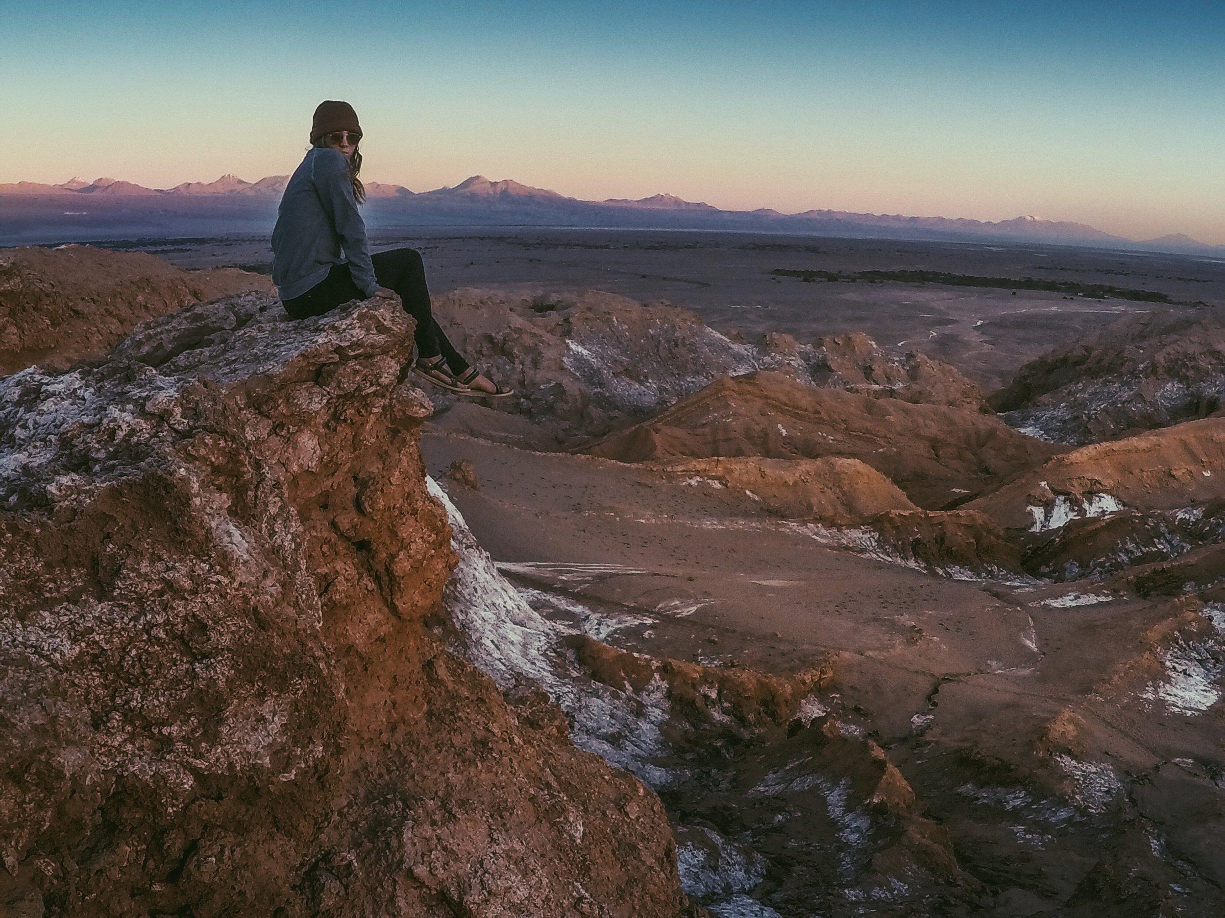 Valle de Luna on the way to San Pedro de Atacama