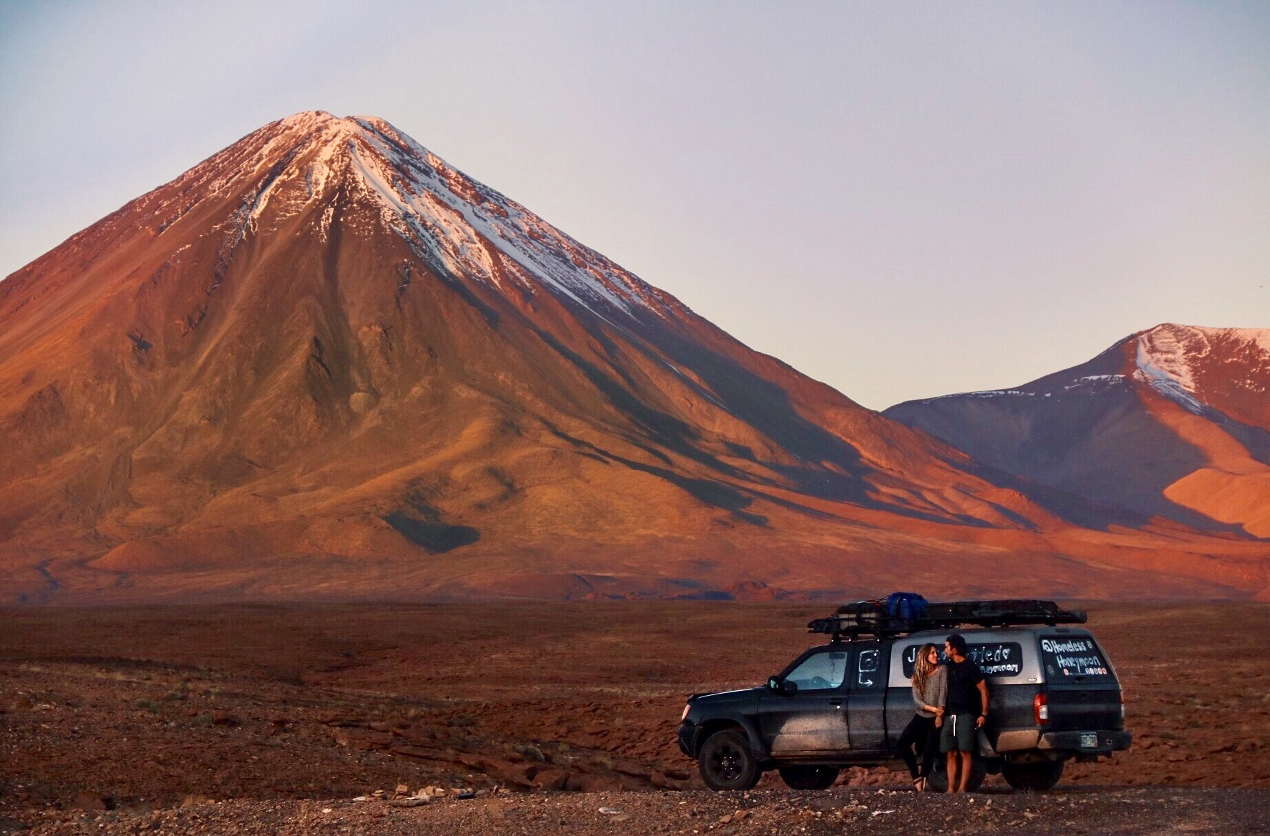 Volcan Licanabur on the border of Chile and Bolivia.