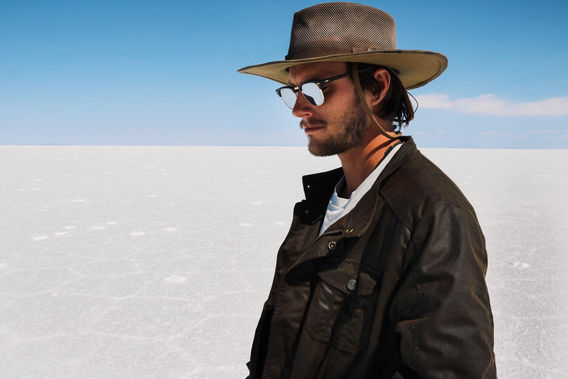 Trevor wearing  Outback Gear  in Salar de Uyuni.